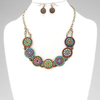 Rodeo Glam Medallion Necklace Set