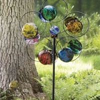 Glowing Colorful Disc Spinner in Wind Spinners