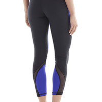 Michi Hydra Crop Indigo Leggings | Designer Workout Leggings
