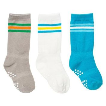 Mixed Classic Athletic Baby Knee Socks - 3 Pack