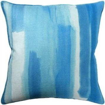 Watercolor Aqua Pillow