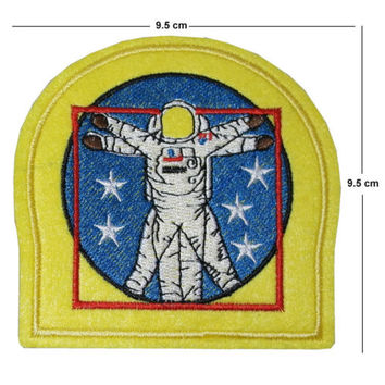 NASA Iron / Sew On Embroidered Patch Badge Embroidery leonardo square circle | eBay