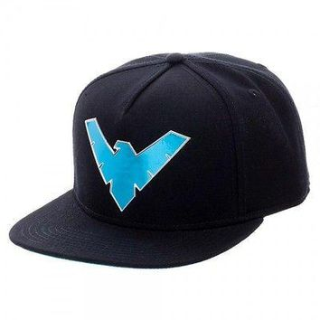 DC Comics Nightwing Chrome Weld Logo Snapback
