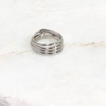 Where I Draw The Line Silver Ring