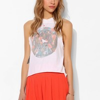 Black Moon Floral Muscle Tee - Urban Outfitters
