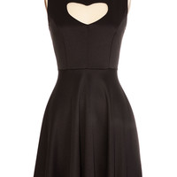 Heart of Darkness Black Peek-a-Boo Dress