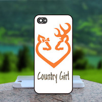 Browning Deer Country Girl - Photo Print in Hard Case - For iPhone 4 / 4s Case , iPhone 5 Case - White Case, Black Case (CHOOSE OPTION )