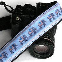 Elephants Camera Strap. dSLR Camera Strap. Canon, Nikon Camera Strap. Cute Camera Strap. Women Accessories