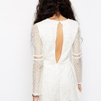 ASOS Playsuit in Pretty Patched Lace