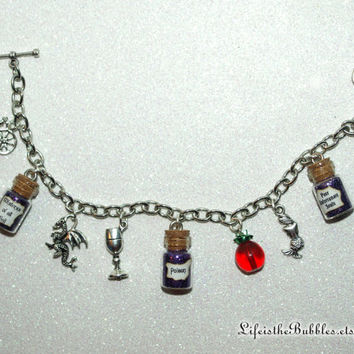 Disney Villains, Villainess, The Dark Divas, Evil Queen, Maleficent, Ursula, Wicked Charm Bracelet by Life is the Bubbles