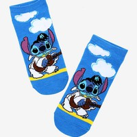 Disney Lilo & Stitch Elvis Stitch No-Show Socks