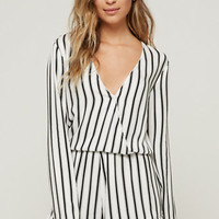 House of Harlow Long Sleeve Ruffle Romper at PacSun.com