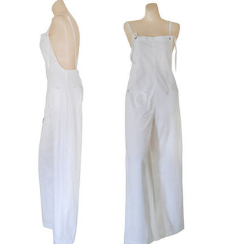 Women Overall White Overall Cotton Overall 90s Overall Jumpsuit Over Alls Women Bib Overall Salopette Femme Dungaree Women White Jumpsuit