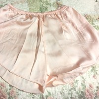 Brandy Light pink peachy silk shorts
