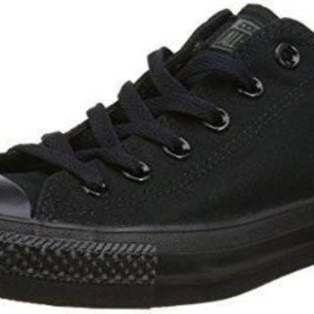 DCCKHD9 Unisex Converse Chuck Taylor All Star Low Top Sneakers (9.5 Men 11.5 Women, Black Mono