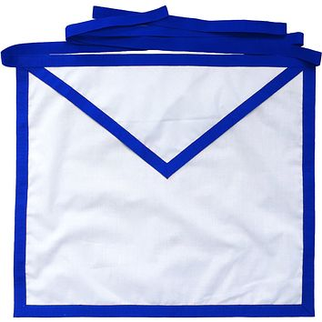Masonic Blue Lodge Member Apron White Cotton Duck Cloth