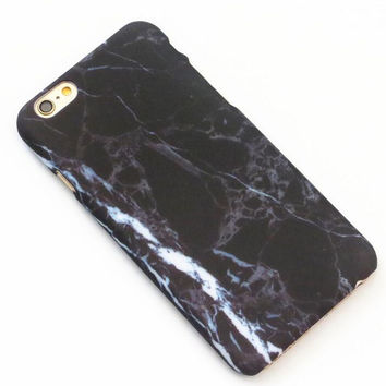 Black White Hard Marble Texture iPhone 7 7Plus & iPhone 6 6s Plus & iPhone 5s se Case Cover +Gift Box
