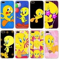 Tweety Bird Transparent Hard Thin Case Cover For Apple iPhone 4 4S 5 5S SE 5C 6 6S 7 8 X Plus