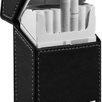 Visol Migo Black Leather Regular Size Cigarette Pack Holder