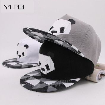 Trendy Winter Jacket Outdoor Lovers Animal Baseball Cap Hip-hop Male Ms. Cute Panda Zebra Penguin Sheep Rubber Hat Napback Flat-brimmed Men Hat AT_92_12