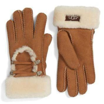 DCCK8X2 UGG? Lace Up Genuine Shearling Gloves | Nordstrom