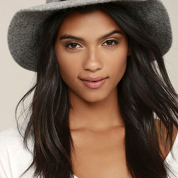 Stand by Me Heather Grey Fedora Hat