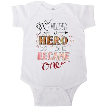 She Needed A Hero, So She Became One -- Baby Onesuit