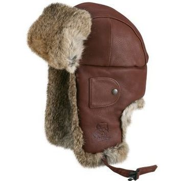 Mad Bomber Hat, Leather: Cold-Weather Hats at L.L.Bean