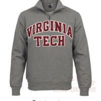 Virginia Tech Big Cotton 1/4 Zip Sweatshirt