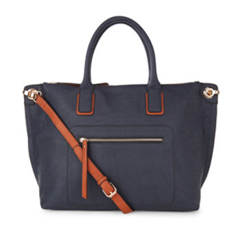 Anastasia Soft Tote Bag | Navy | Accessorize