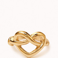 Pretzel Heart Ring
