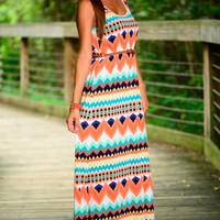 Sensational Sunset Maxi, Orange