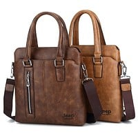 JEEP BULUO Men Business Handbag Fashion Casual Briefcase