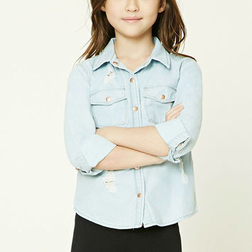 Girls Chambray Shirt (Kids)