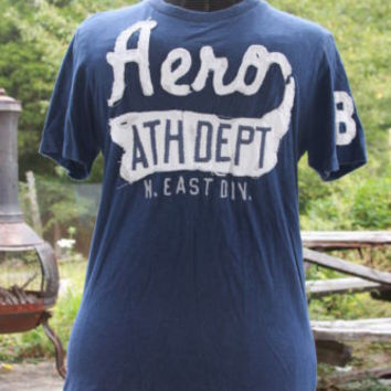 Men's Graphic Tee T-Shirt Aeropostale Sewn On Letters Aero Size M