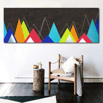 Metal Wall Art Decor, Metal Wood Wall Art, Mountain Wall Art, Home Metal Wall Art, Modern Contemporary Wall Art