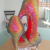 Swarovski Crystals Heel Strassing Service - Bling out your favorite shoes.