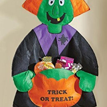 Halloween Witch Door Hanging Candy Holder