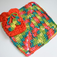 Crochet Washcloth - Soap Sack - TREASURY Item - Soap Saver