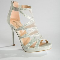 High Heel Mesh and Glitter Sandal from Camille La Vie and Group USA