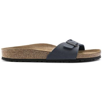 Birkenstock Madrid Birkibuc Navy 0040121/0040123 Sandals - Ready Stock