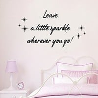 Wall Decals Vinyl Decal Sticker Stars Leave a Little Sparkle Wherever You Go Home Interior Design Art Murals Bedroom Living Room Dorm Decor