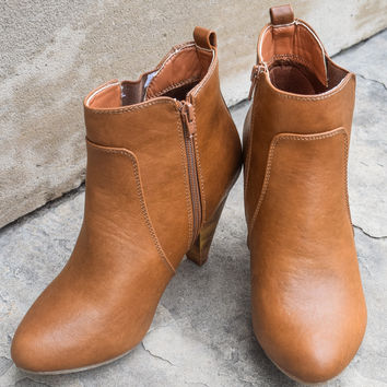 Bright and Bootie-ful Cognac Shoe