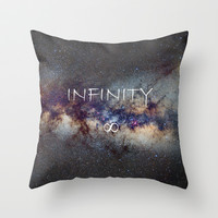 INFINITY STARS IN THE MILKY WAY ∞ Throw Pillow by Guido Montañés