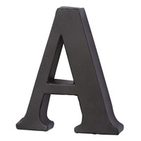 Make Market™ Black Metal Letter, 6.75""