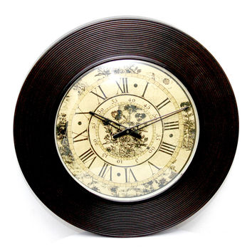 Aakashi Chocolate Polish Lineing Wall Clock