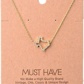 Must Have-Texas Jewel Necklace, Gold