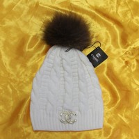 """Chanel"" Women Embroidery Beanies Knit Hat Warm Woolen Hat"