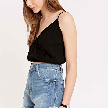 Pins & Needles Surplice Cami Top in Black - Urban Outfitters