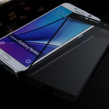 2.5D 9H Full Cover Tempered Glass for Samsung Galaxy Note5 Note4 Note3 Full Coverage Screen Shield Toughened Glass Film